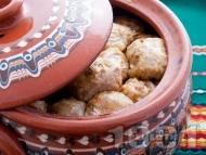 Постни сарми от кисело зеле с ориз в глинен съд